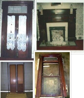 MAHOGANY FRONT DOOR, FRENCH DOORS, MANTLE, WINDOW
