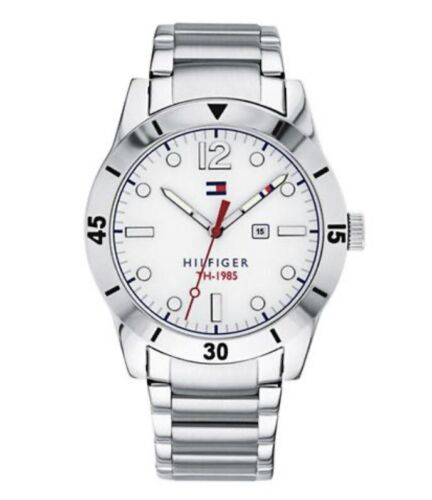 Tommy Hilfiger Men's Stainless Steel Bracelet Watch 42mm Silver 1791441 Jewelry & Watches