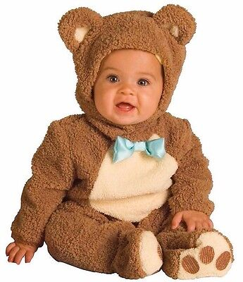 Oatmeal Bear Costume Teddy Bear Baby Infant Toddler Plush - 6-12, 12-18, 18-24 - Toddler Bear Costume