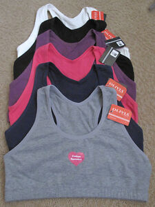 Lot 3 Gymnastic Cotton Yoga Sports Bra Cami Tank Top Dance Wear Plain XXL 2XL