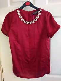 Pearl Embellished Top size S/8