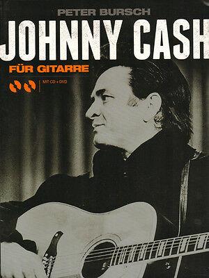 Peter Bursch Johnny Cash für Gitarre Songbook ohne Noten mit CD und DVD