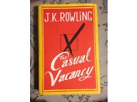 "Book ""the casual vacancy"" by j.k. Rowling"