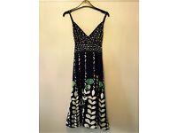 Stunning TED BAKER Silk dress, Size 10 (2), Worn Once