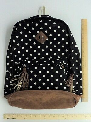 MUDD Black & White Polka Dot Back Pack Tote Bag Purse - 24 hour FLASH SALE](Canvas Tote Bags Cheap)