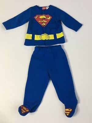 Baby Boy 3-6mo Superman Winter Outfit PJ Footie DC Hero Halloween Batman not Lot