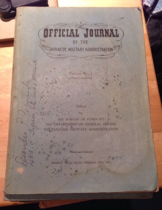 The Official Journal Of The Japanese Military Administration Vol 1. 2nd edition