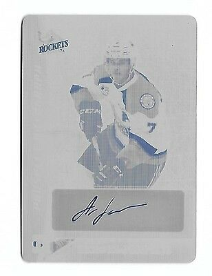 2016 17 Leaf Itg Heroes   Prospects Lucas Johansen Plate Auto Rc 1 1 Capitals