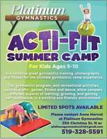 Kids Summer Camp!!!!! Acti-Fit by Platinum Gymnastics!