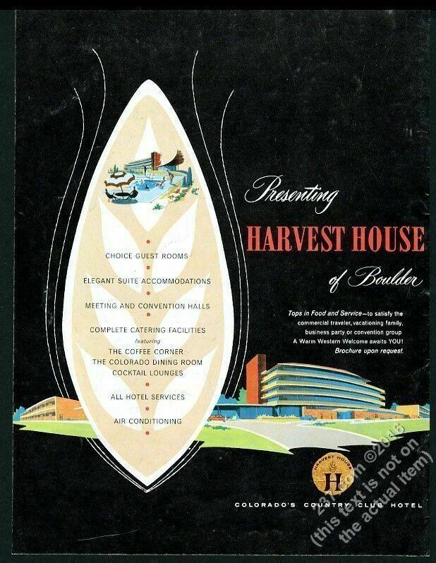 1959 Harvest House hotel restaurant Boulder Colorado vintage print ad