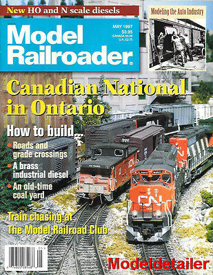 Model Railroader May 1997 Cn Canadian National Ontario Coal Yard Auto Industry