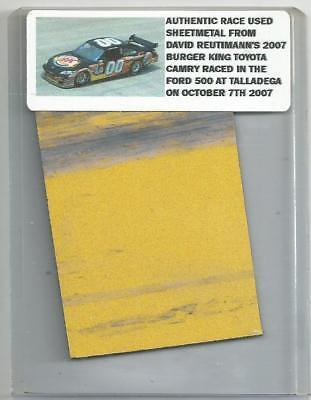 DAVID REUTIMANN NASCAR RACE USED SHEET METAL PIECE 2007 TALLADEGA CAR DR 151