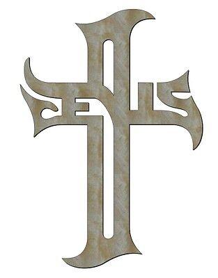 "UNFINISHED JESUS style 3 WOOD WOODEN CROSS CROSSES 11"" x 8"""