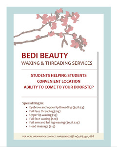 Offering Affordable Eyebrow Threading and waxing services