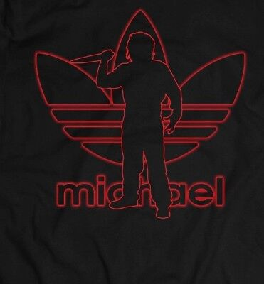 HALLOWEEN MIKE MYERS *ATHLETIC PARODY ARTWORK* Men's Shirt *FULL FRONT* (Halloween Parody Art)