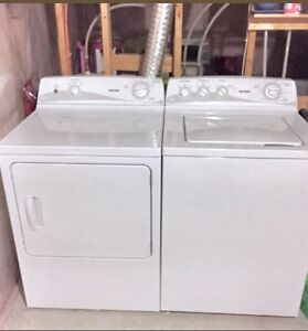 NEWER White *HOTPOINT* Washer+Dryer (Full Delivery & More incld)