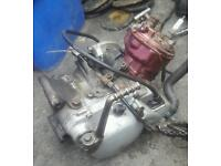 Husqvarna wsm 50cc 2 stroke engine with 90cc head and piston