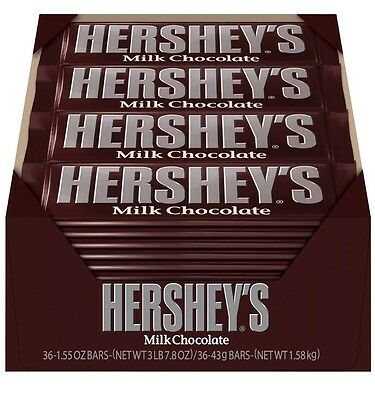 (Hershey's Milk Chocolate Bars - 36 Count - 1.55 OZ - Fresh Bulk Candy)
