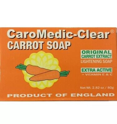 Caro CaroMedic-Clear Carrot Lightening Soap Carrotte Savon Eclaircissant 80g