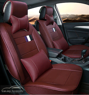 Wine Red Burgundy Car Seat Covers Ford Falcon Focus Fiesta Escape Ranger Mondeo
