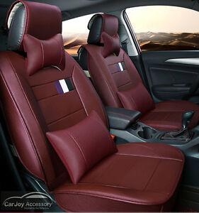 Wine Red Burgundy Car Seat Covers Mitsubishi Lancer 5 Seats Outlander Pajero