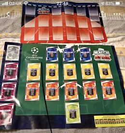 2 MATCH ATTAX TRADING MATS IN VERY GOOD CONDITION.