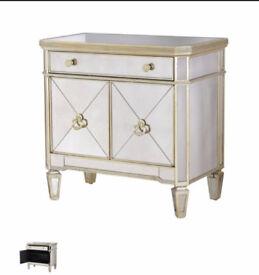 Venetian Mirrored cabinet cupboard sideboard