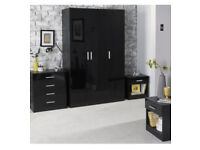 Wanted black gloss wardrobe and chest of drawers
