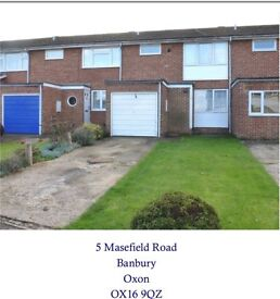 3 Bedroomed terraced House in highly Sort after area in Banbury £900 PCM
