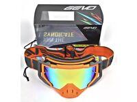 Orange MX goggles Ktm off road enduro motocross motorcycle Sxf exc xmas present
