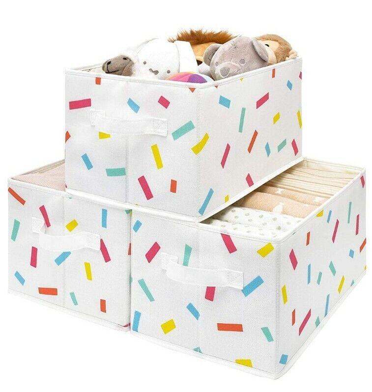 Set of 3 StorageWorks Large Foldable Storage Baskets NEW