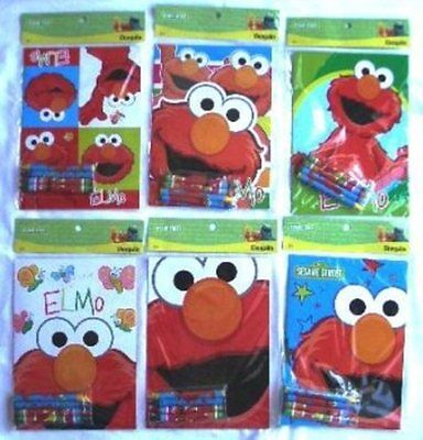 (Elmo Sesame St Coloring Book Crayon Set Childs Birthday Party Favors Bag Fillers)