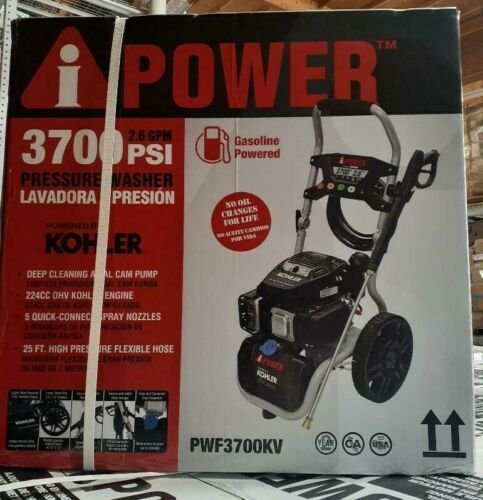 A-I Power Gas Pressure Washer 3700 PSI 2.4 GPM By Kohler PWF3700KV 2.6 GPM