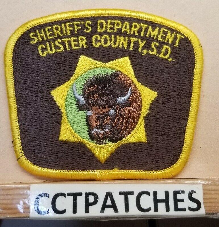 CUSTER COUNTY, SOUTH DAKOTA SHERIFF (POLICE) SHOULDER PATCH SD