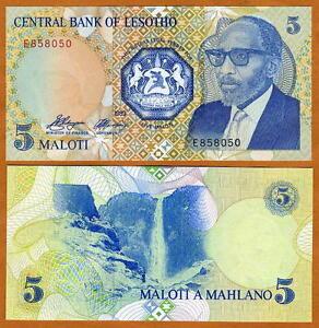 Lesotho-Kingdom-5-Maloti-1989-Moshoeshoe-II-P-10-UNC