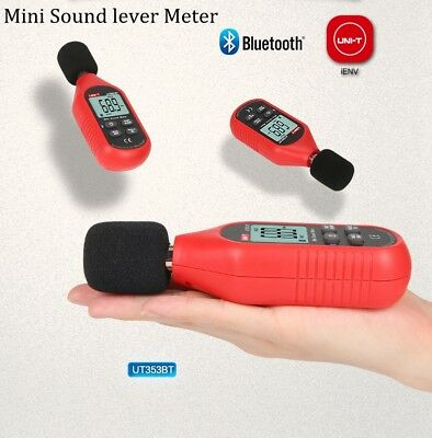Uni-t Ut353bt Digital Bluetooth Noise Meter Sound Level Meter Tester 30-130db De