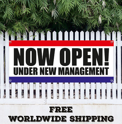 Now Open Under New Management Banner Vinyl Advertising Flag Sign Many Sizes Usa