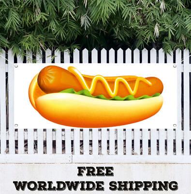Banner Vinyl Hot Dog Advertising Sign Flag Many Sizes Chicago Wiener Franks
