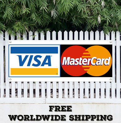 Visa Mastercard Banner Vinyl Advertising Sign Flag Business Credit Card Pay