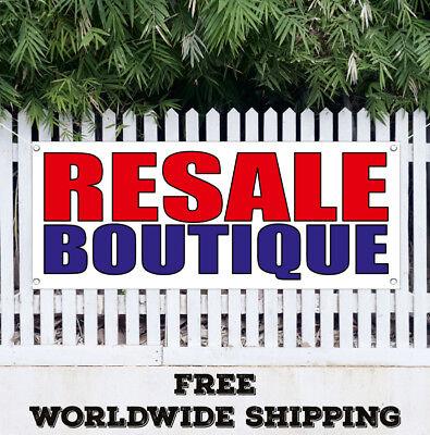 Banner Vinyl Resale Boutique Advertising Sign Flag Resale Shop Clothes Sale
