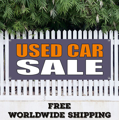 Banner Vinyl Used Car Sale Advertising Flag Sign Sale Dealership Clearance Auto
