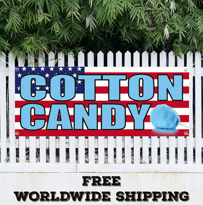 Banner Vinyl COTTON CANDY Advertising Sign Flag Homemade Farme Fair Food Sweets](Homemade Cotton Candy)