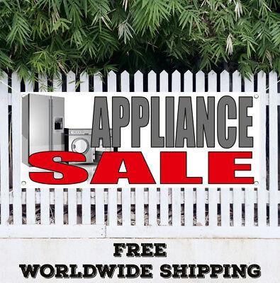 Banner Vinyl Appliance Sale Advertising Sign Flag Dish Washer Dryer Stove