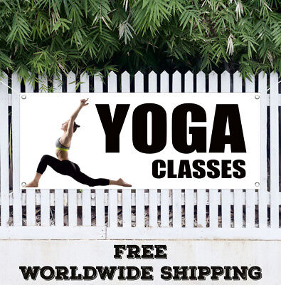 Yoga Classes Banner Vinyl Advertising Sign Flag Chakra Reiki Studio Pilates