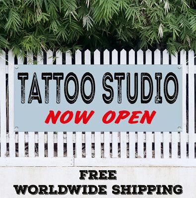 Banner Vinyl Tattoo Studio New Open Advertising Sign Flag Parlor Artwork Artist