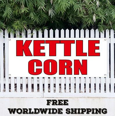 Banner Vinyl Kettle Corn Advertising Flag Sign Fair Concession Hot Fresh Sweet