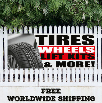 Banner Vinyl Tires Wheels Lift Kits More Advertising Flag Sign Auto Service