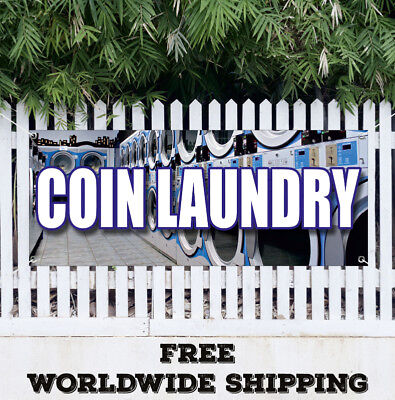 Banner Vinyl Coin Laundry Advertising Sign Flag Wash Fold Washing Machines