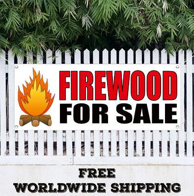 Banner Vinyl Firewood For Sale Advertising Sign Flag Wood Split Cord Seasonal