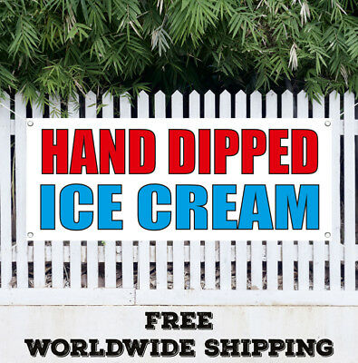 Banner Vinyl Hand Dipped Ice Cream Advertising Sign Flag Gift Many Size
